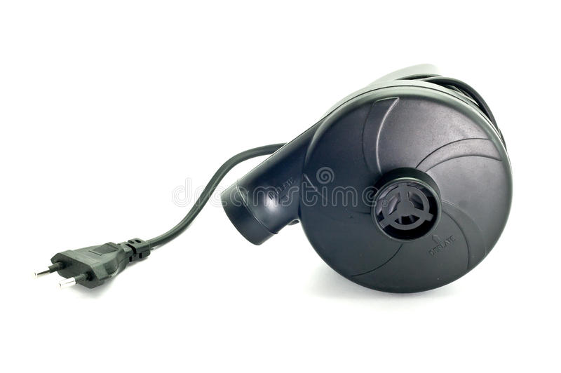 Черные воздуходувки для раздувных игрушек бассейна стоковые фото