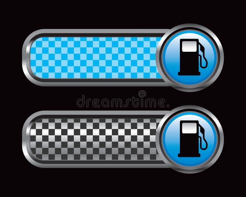 черные голубые checkered платы газового насоса иллюстрация штока