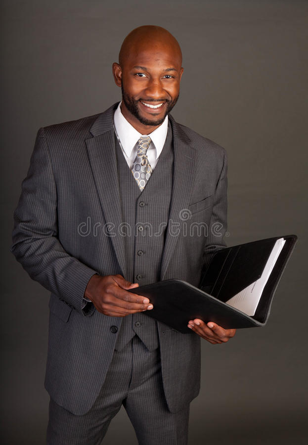 черные детеныши бизнесмена стоковая фотография rf