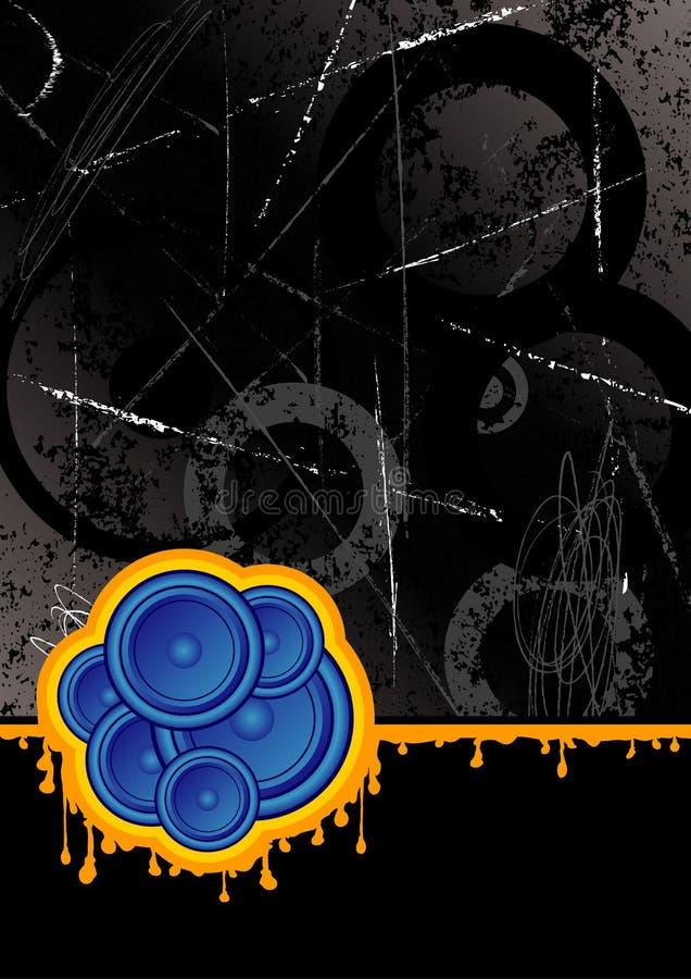 черные дикторы клуба иллюстрация вектора