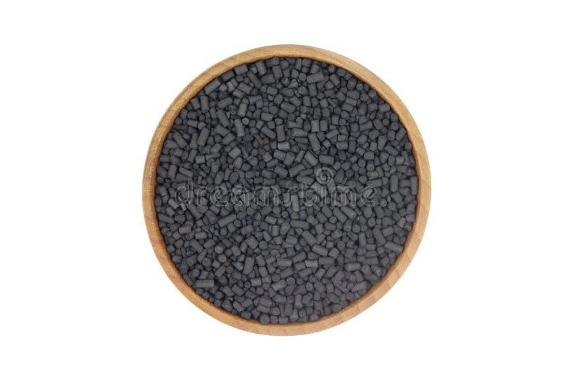 Черные зерна активированного угля стоковое изображение rf