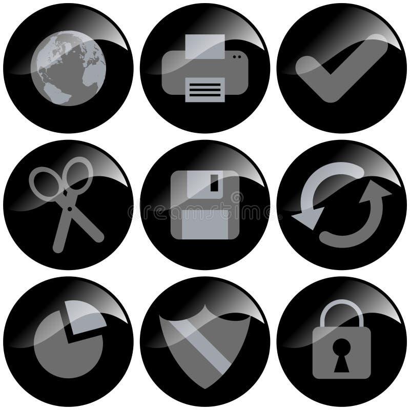 черные иконы бесплатная иллюстрация