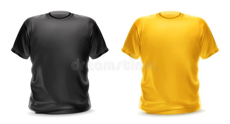 Черные и желтые футболки иллюстрация штока