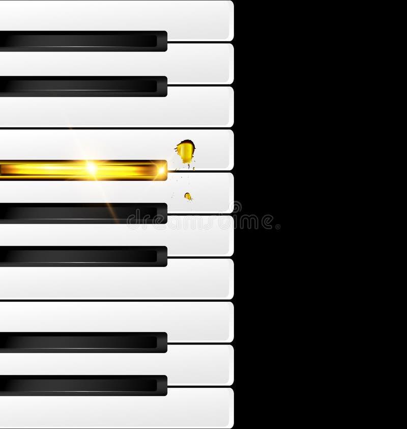 Черные и золотые ключи иллюстрация штока