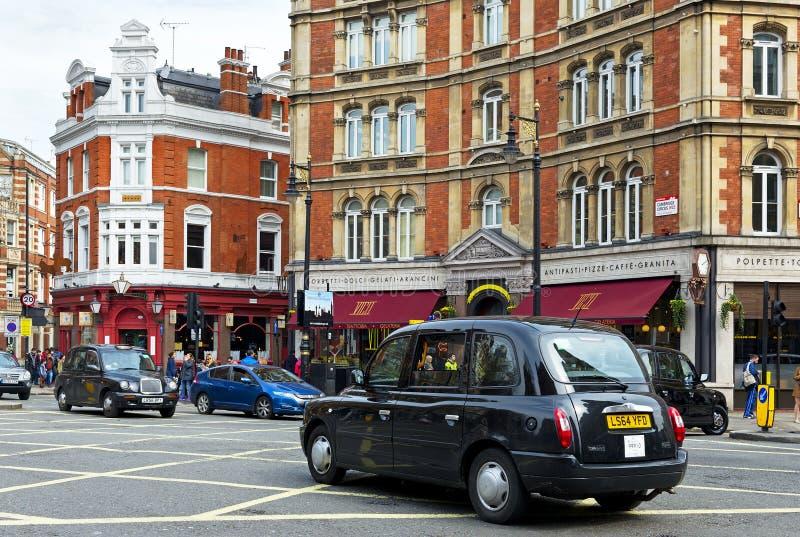 черные кабины london стоковая фотография rf