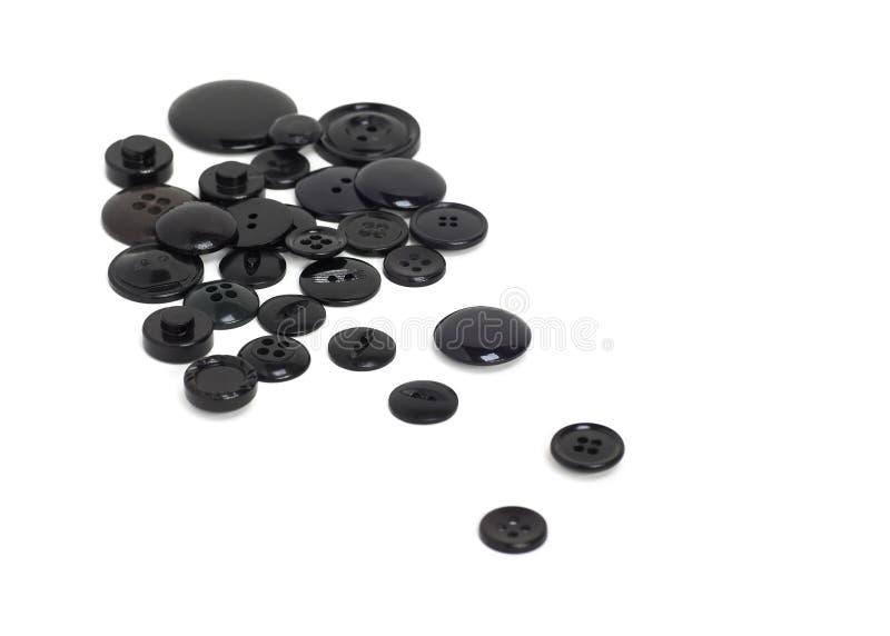 черные кнопки стоковые фотографии rf