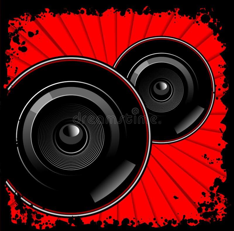 черные красные sub woofers бесплатная иллюстрация