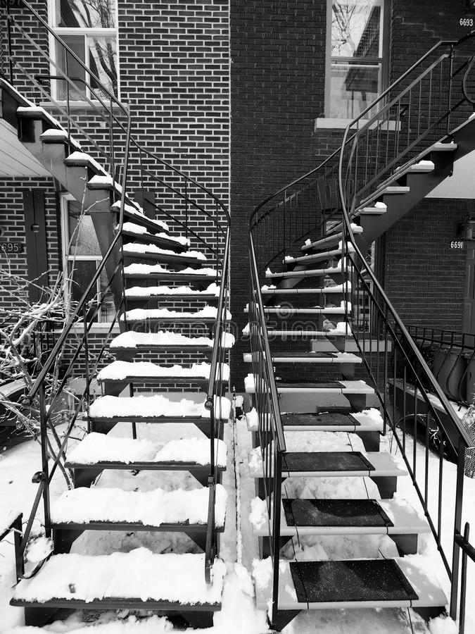 черные лестницы белые стоковое фото