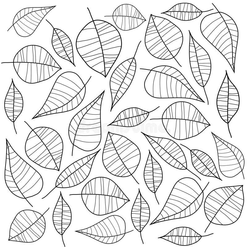 черные листья vector белизна иллюстрация вектора