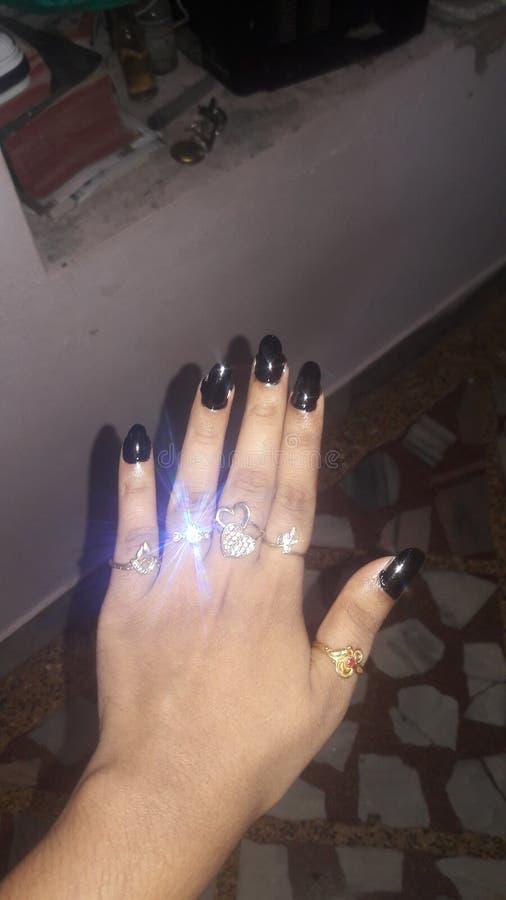 черные ногти стоковое фото