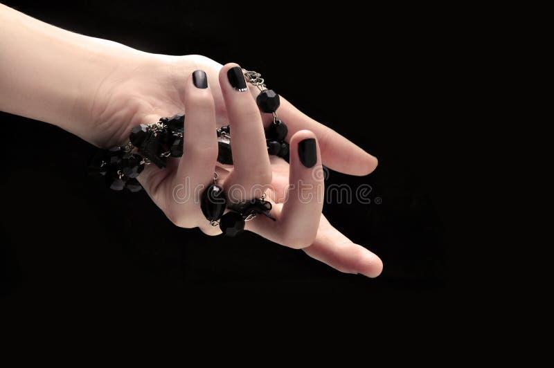 Черные ногти стоковые фото