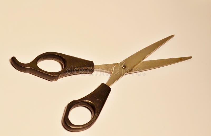 Черные ножницы ручки, винтажный стиль r стоковая фотография