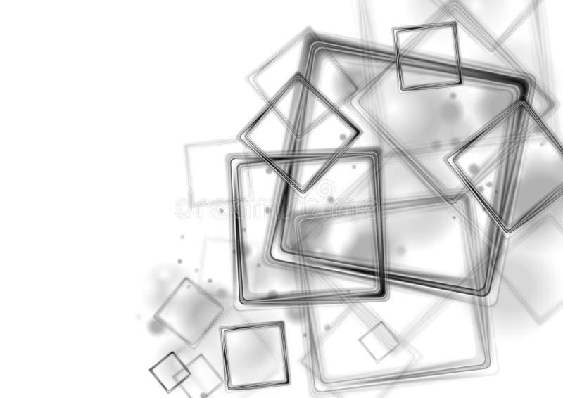 Черные лоснистые квадраты на белой предпосылке иллюстрация вектора