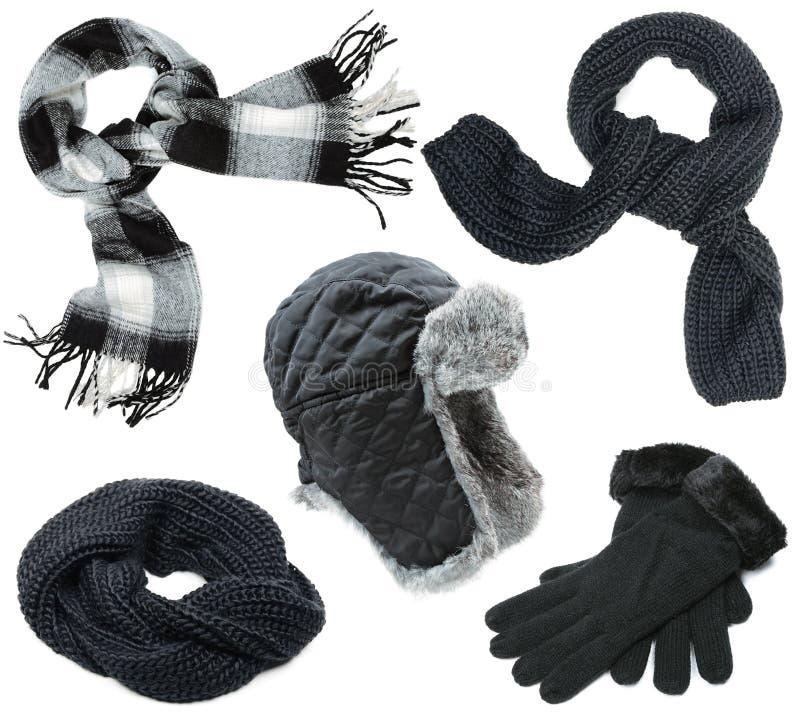 Черные одежды зимы стоковое фото rf