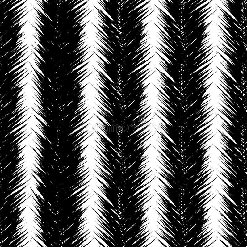 Черные пальмы вектора Картина руки вычерченная безшовная Пальма лета тропическая выходит безшовная картина Абстрактная природа иллюстрация вектора