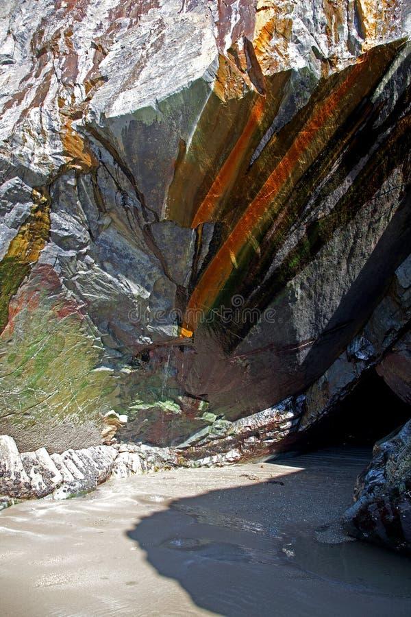 черные пески утеса стоковое фото rf