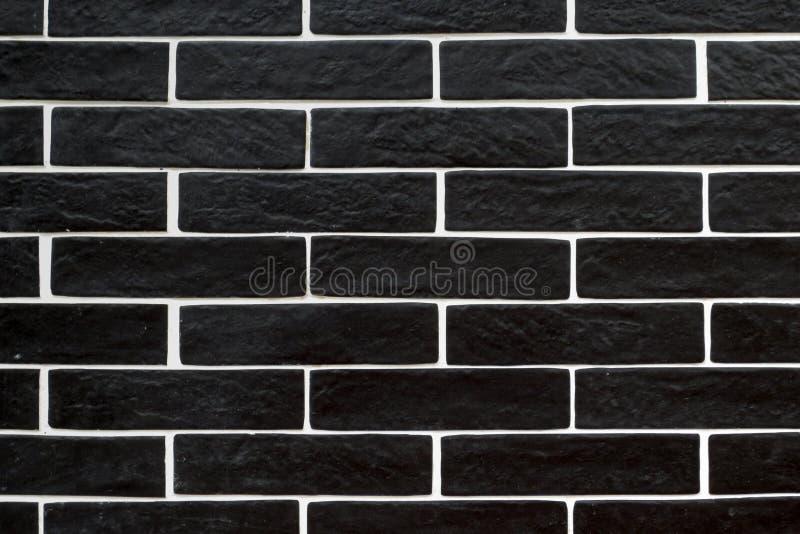 Черные плитки кирпича с белый grouting стоковые изображения