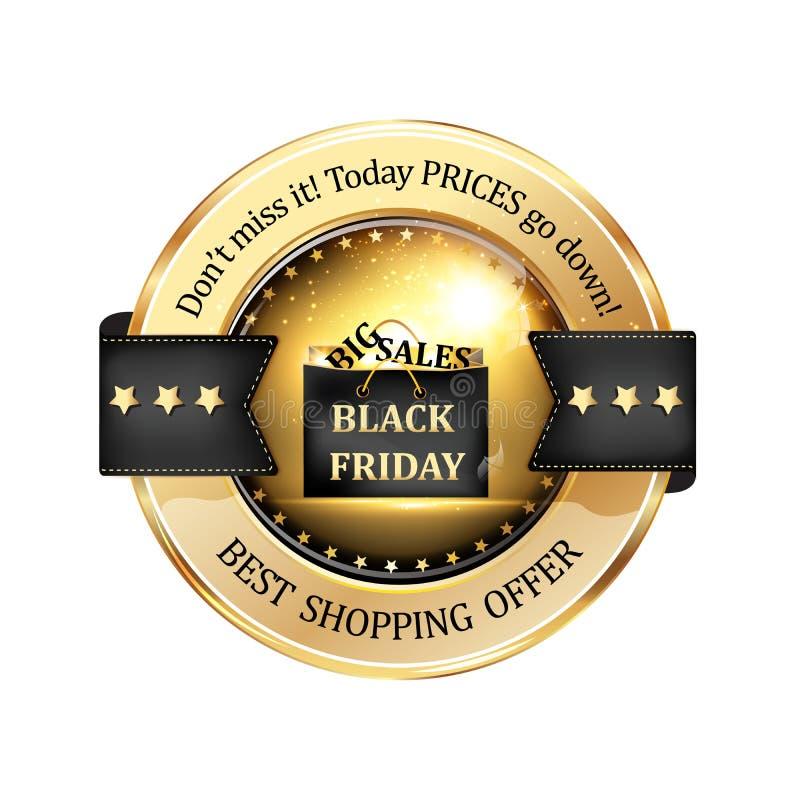Черные продажи пятницы большие иллюстрация вектора