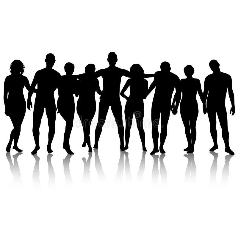 Download Черные силуэты красивого укомплектовывают личным составом и женщина на белом Backgrou Иллюстрация вектора - иллюстрации насчитывающей художничества, женщина: 40591219