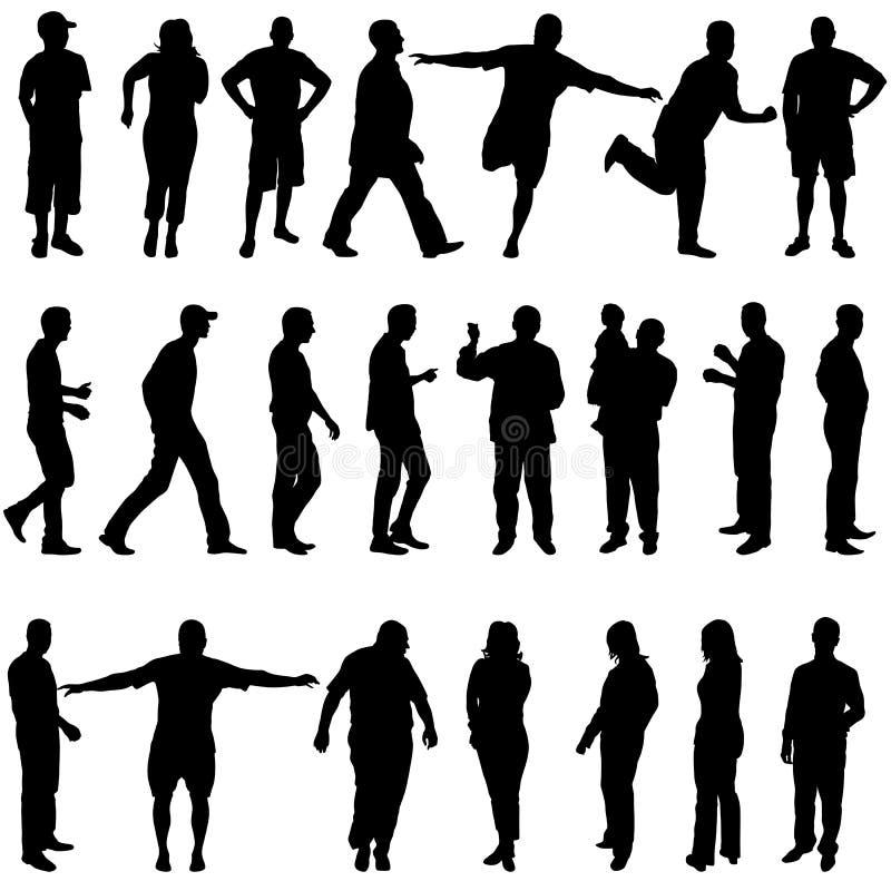 Download Черные силуэты красивого укомплектовывают личным составом и женщина на белом Backgrou Иллюстрация вектора - иллюстрации насчитывающей женщина, художничества: 40591249
