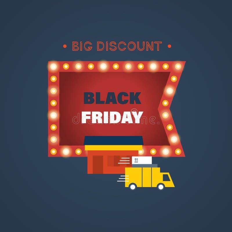 Черные скидки пятницы и специальные предложения на покупках бесплатная иллюстрация
