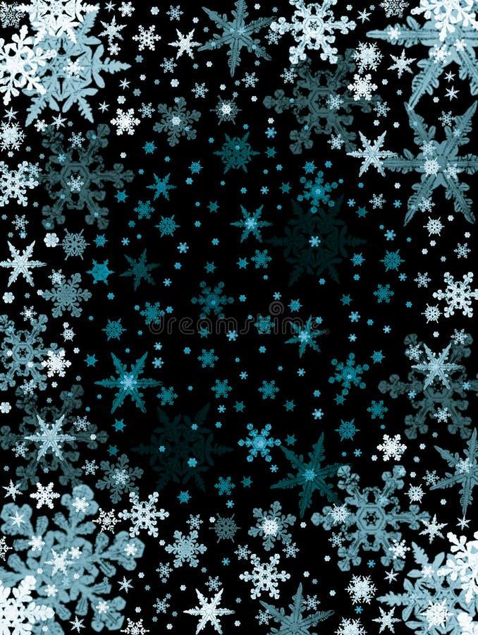 черные снежинки иллюстрация вектора