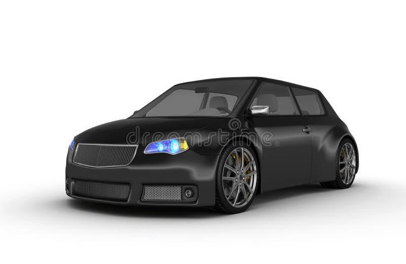 черные спорты автомобиля иллюстрация вектора