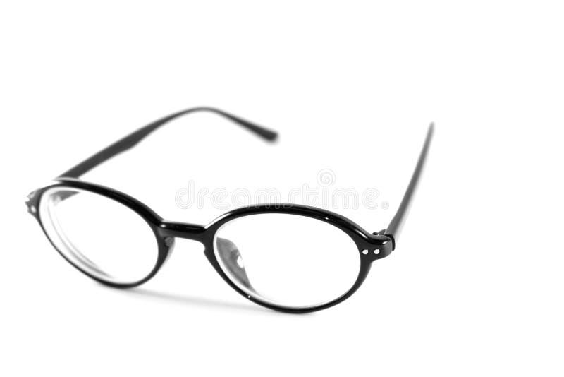 Черные стекла на белой предпосылке стоковые фотографии rf