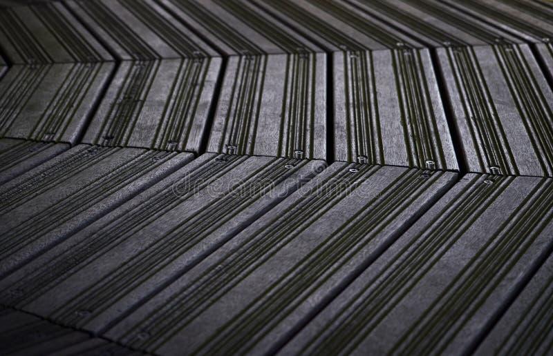 Черные террасные доски стоковая фотография