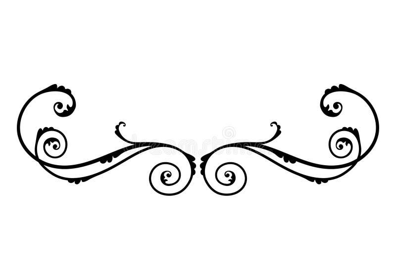 черные флористические орнаменты иллюстрация вектора