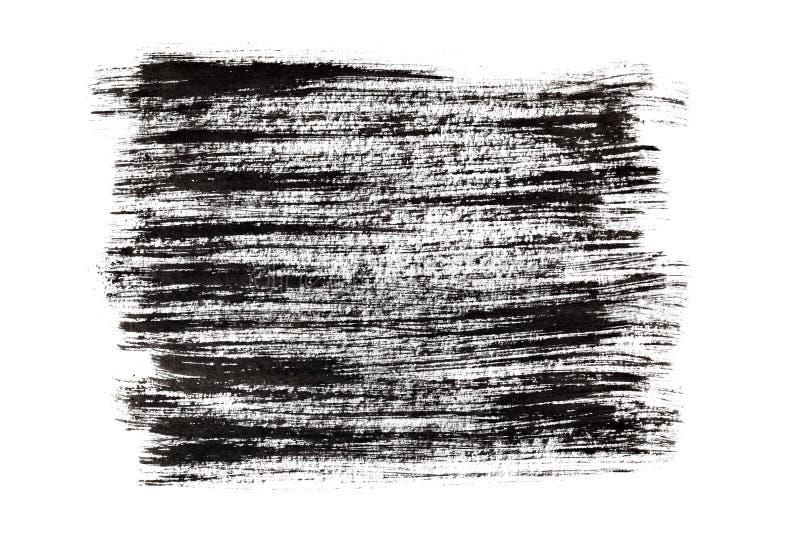 черные ходы краски щетки иллюстрация вектора
