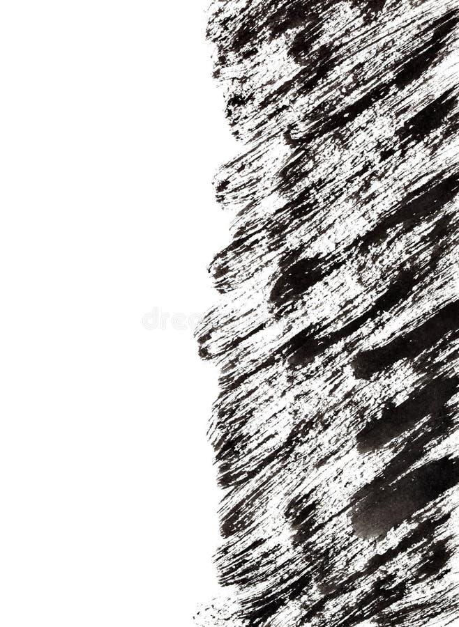 Черные ходы щетки с краем иллюстрация вектора