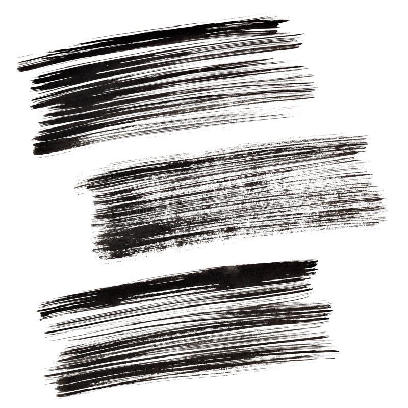 черные ходы щетки иллюстрация вектора