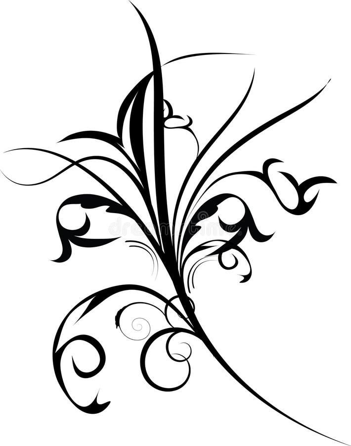 черные цветки украшения бесплатная иллюстрация