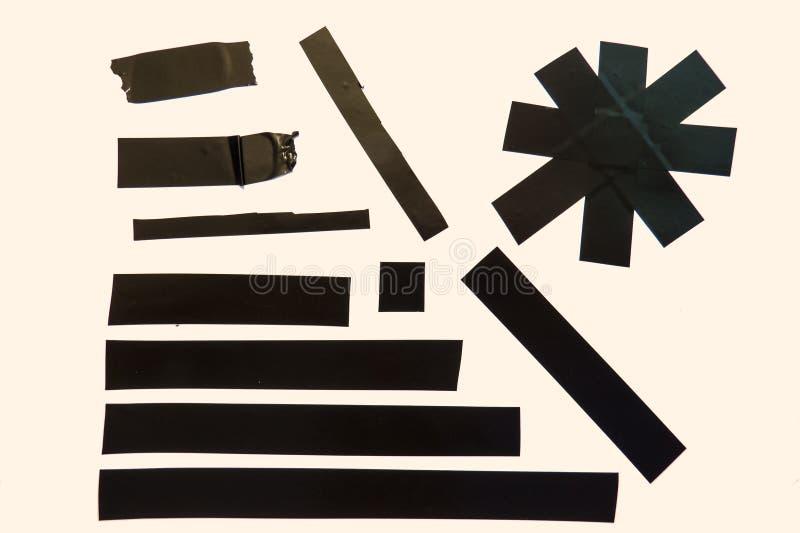 Черные части ленты стоковое фото rf
