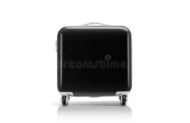 Черные чемодан или багаж для путешественника стоковое изображение rf