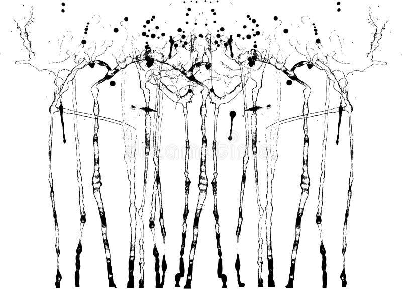 черные чернила помаркой иллюстрация штока