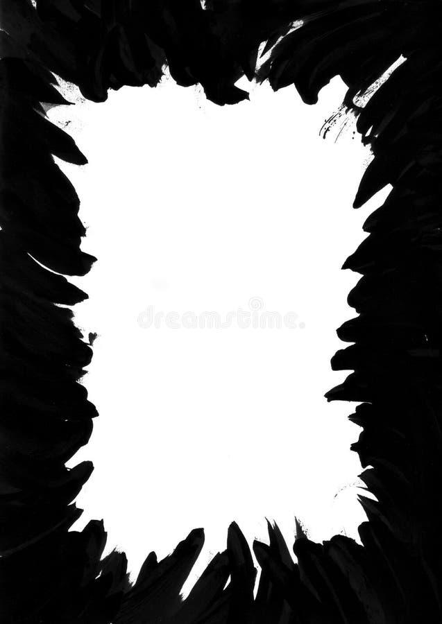черные чернила рамки перста стоковое фото