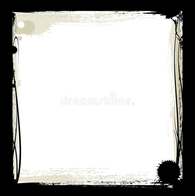 черные чернила рамки иллюстрация штока