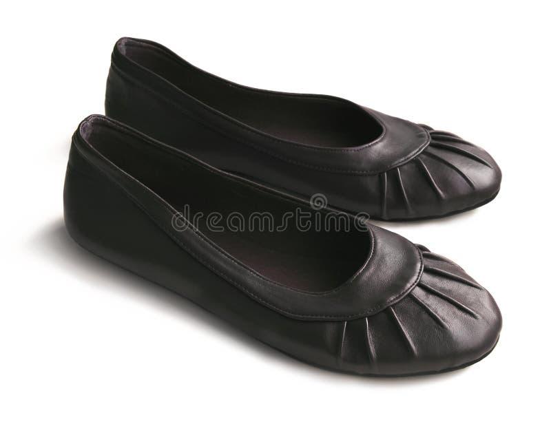 черные girlish ботинки стоковая фотография