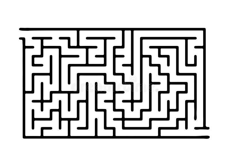 Черный лабиринт вектора иллюстрация штока