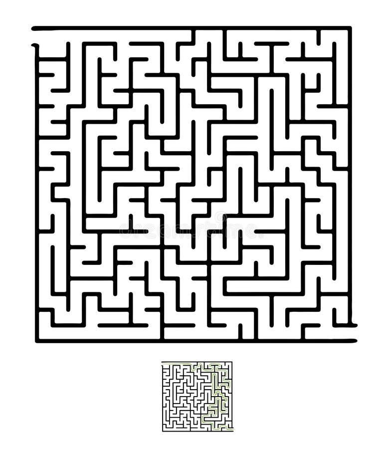 Черный лабиринт вектора иллюстрация вектора