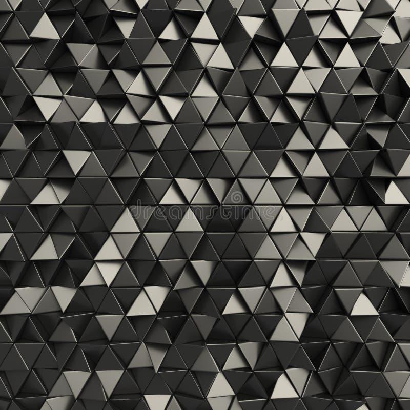 Черный абстрактный фон треугольников иллюстрация вектора