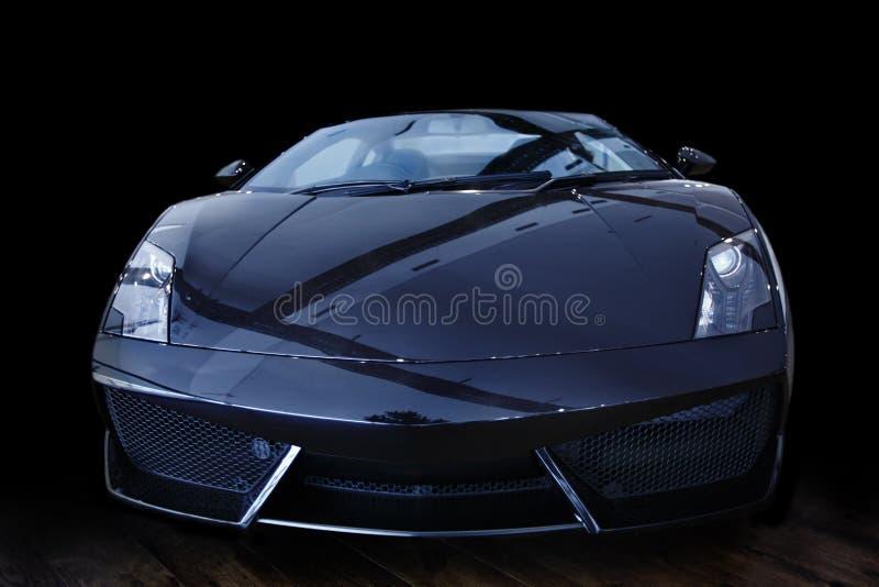 Черный автомобиль спорт стоковые изображения