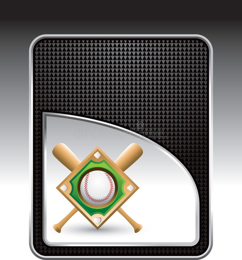 черный алмаз бейсбольных бита предпосылки иллюстрация штока