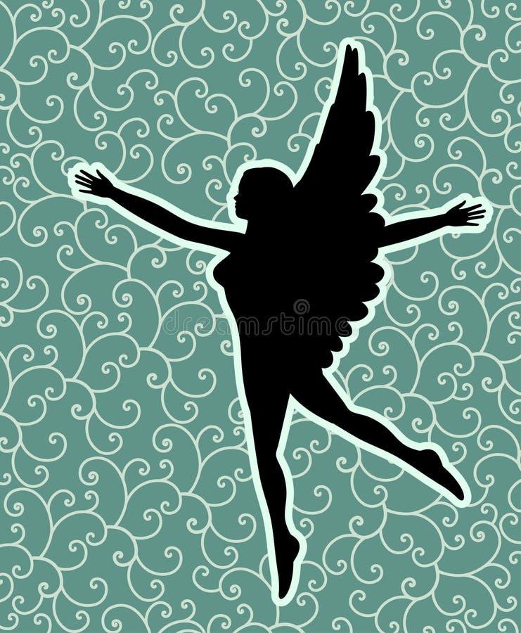 Черный ангел иллюстрация штока