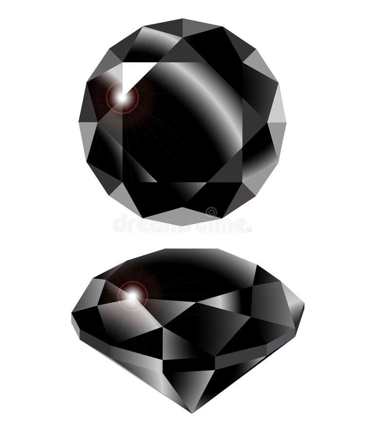 Черный алмаз вектора бесплатная иллюстрация