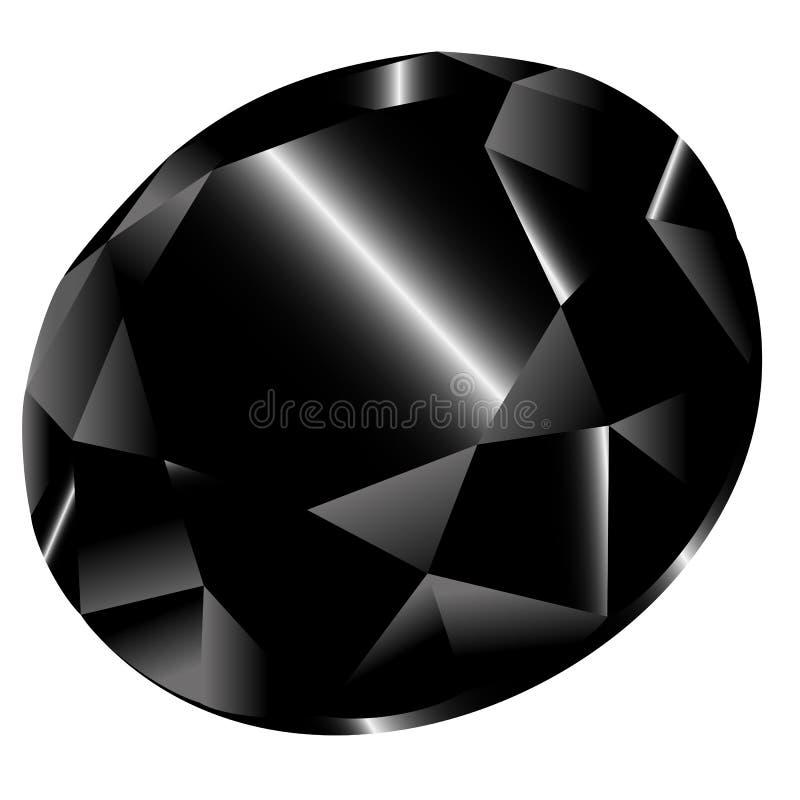 Черный алмаз вектора иллюстрация штока