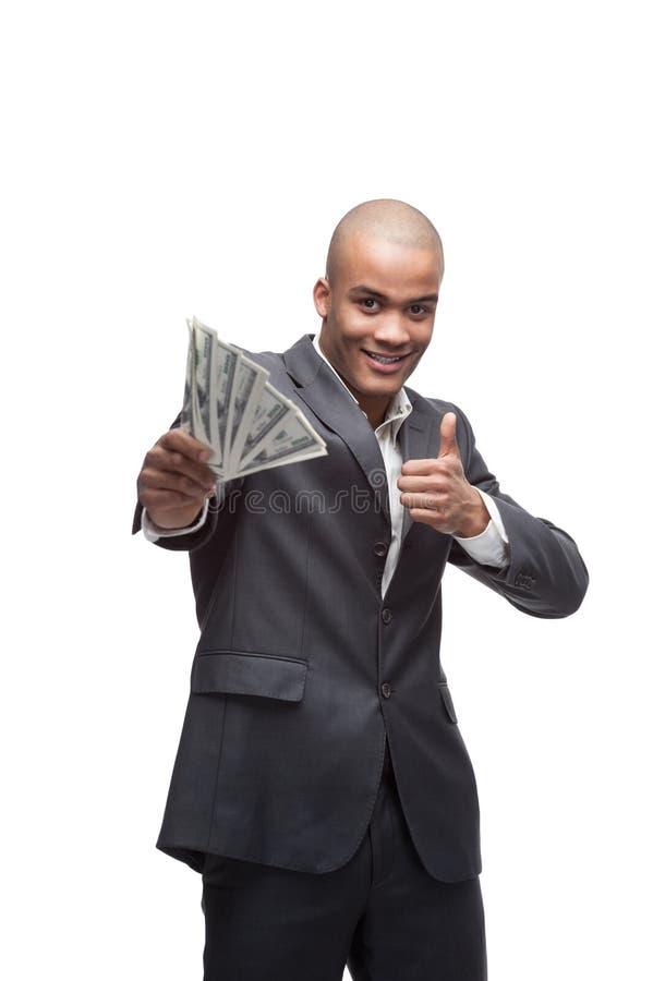 Черный бизнесмен стоковые фотографии rf