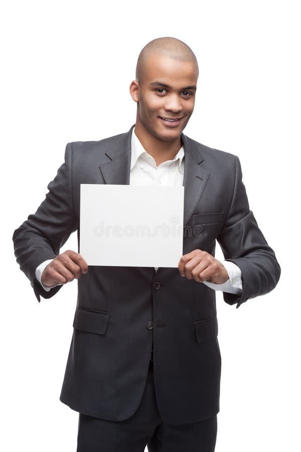 Черный бизнесмен стоковое изображение rf